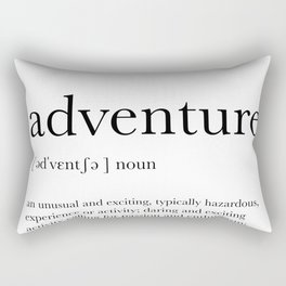 Adventure Definition Rectangular Pillow