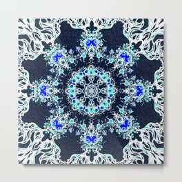 winter mandala Metal Print
