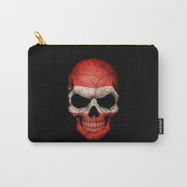 Dark Skull with Flag of Austria Carry-All Pouch