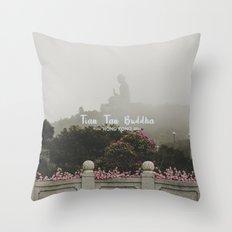 Hong Kong Tian Tan Buddha Throw Pillow