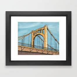 Roberto Clemente Bridge - Pittsburgh Framed Art Print