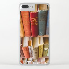 The Colorful Library Clear iPhone Case