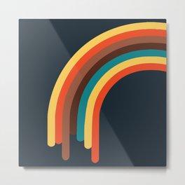 Retro Rainbow 70s colors Metal Print