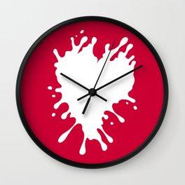 Splatter Heart Wall Clock