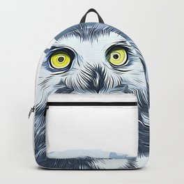 snow owl vector art by gxp-design Backpack
