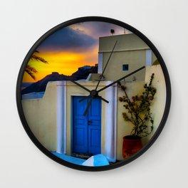 Santorini 27 Wall Clock
