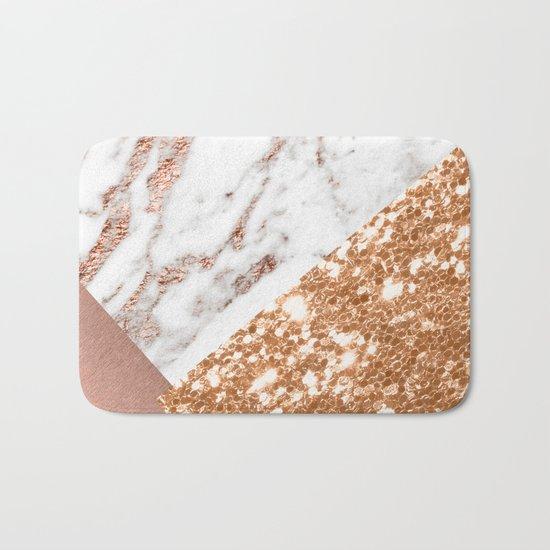 Layers of rose gold Bath Mat