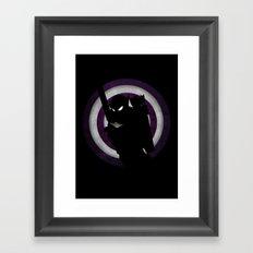 SuperHeroes Shadows : Hawkeye Framed Art Print