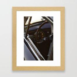 Lancia Aurelia GT Dashboard Framed Art Print