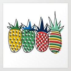 Pineapples  Art Print