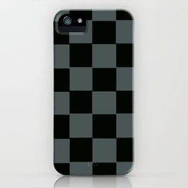 Gray & Black Chex 2 iPhone Case