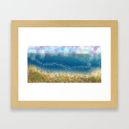 Abstract Seascape 02 wc Framed Art Print