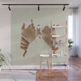 Red String of fate Wall Mural