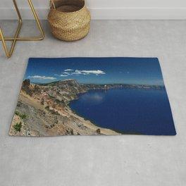 Crater Lake View with Caldera Rim Rug