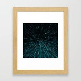 Blue and black Hypergalaxy Framed Art Print