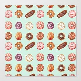 Mint Donuts Canvas Print