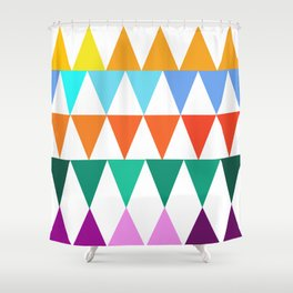 Triangles of Color Shower Curtain