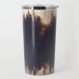 Wooded Lake Reflection  - Nature Photography Travel Mug