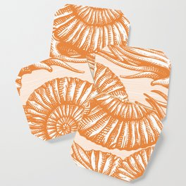 AMMONITE COLLECTION ORANGE Coaster