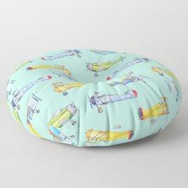 Vintage Airplanes Floor Pillow