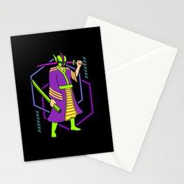 Cyber Punk Samurai Vaporwave Japanese Aesthetic Stationery Cards