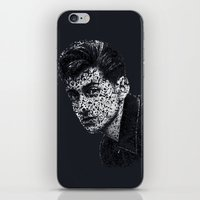 alex turner iPhone & iPod Skins featuring Typo-songs Alex Turner by Daniac Design