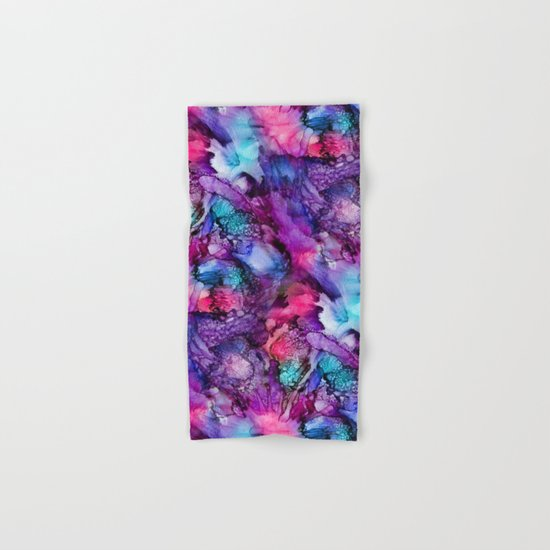 Glowing Purple Abstract Hand & Bath Towel