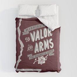 Mississippi Motto (Maroon) Comforters