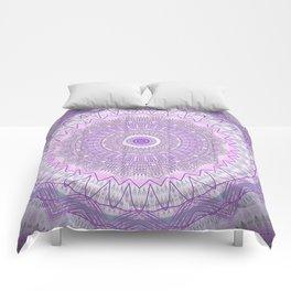 Lavender Purple Lace Mandala Comforters