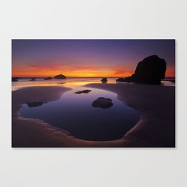 Arcadia Beach Reflections Canvas Print