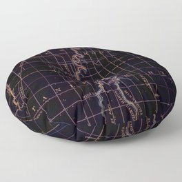 Fargo old map year 1895, united states vintage maps Floor Pillow