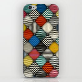 buttoned patches iPhone Skin