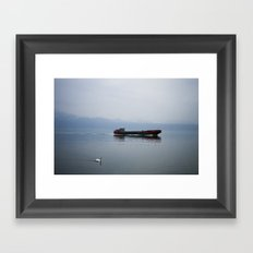 Coming into port Framed Art Print