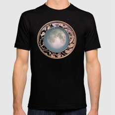 Traveling to the Moon Mens Fitted Tee Black SMALL