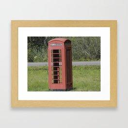 English Phone Booth Framed Art Print