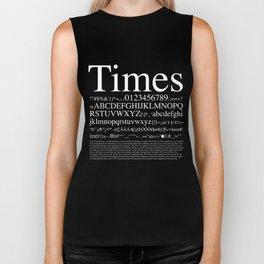 Times (White) Biker Tank