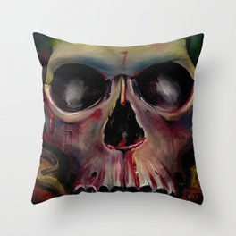 The Mask of the Red Death Throw Pillow