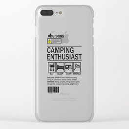 Camping enthusiast Clear iPhone Case