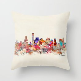 boston city massachusetts Throw Pillow