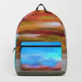 Serenity Abstract Landscape 2 Backpack