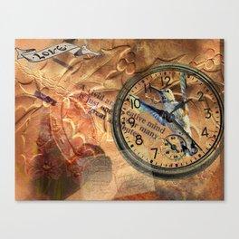 Hummingbird Watch Collage Canvas Print
