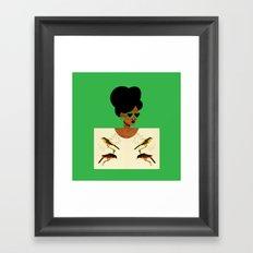 Green Postcard Fashion Framed Art Print