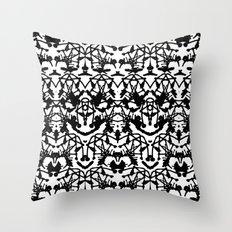 Rorschach madness Throw Pillow