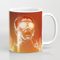 gold Mugs featuring FIREEE! by Dr. Lukas Brezak