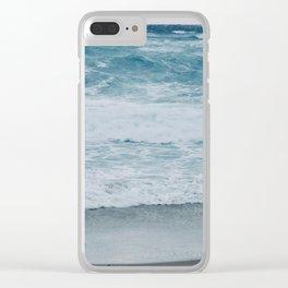 Waves Crashing, New Zealand Otago Peninsula Clear iPhone Case