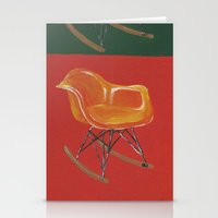eames Stationery Cards featuring Eames Rocker  by Redeemed Ink by - Kagan Masters