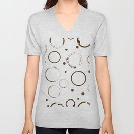 Coffee cup stains and drops Unisex V-Neck