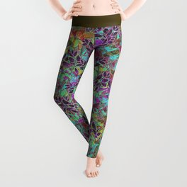 Grunge Art Floral Abstract G124 Leggings