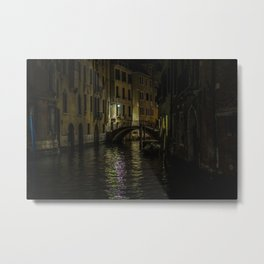 Night Walks: Venice Metal Print