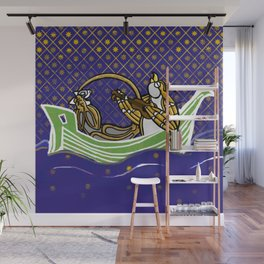 Owl & Pussycat Sailboat Manuscript version Wall Mural